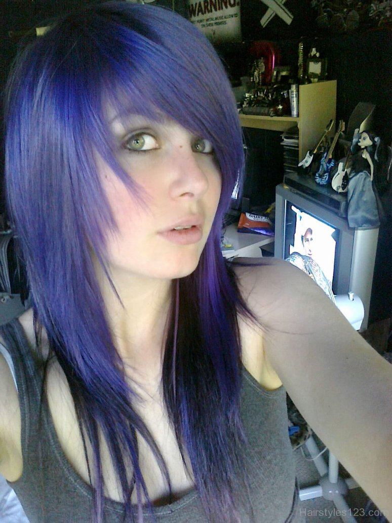 amazing colored emo hairstyle