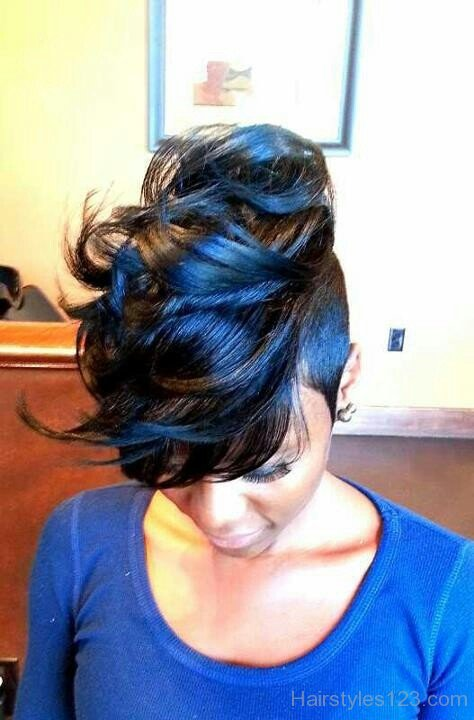 Feathered Black Hairstyle